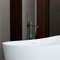 Code Black Chrome Freestanding Bathtub Mixer | Bath taps | Inbani