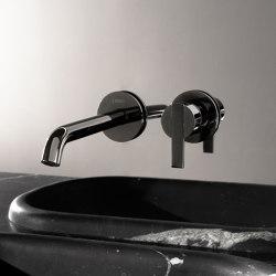 Code Black Chrome Wall Mounted Basin Mixer   Wash basin taps   Inbani