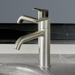 Code Oro Cepillado Monomando Lavabo | Grifería para lavabos | Inbani