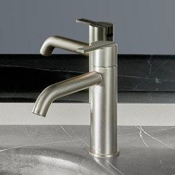 Code Brushed Gold Basin Mixer   Wash basin taps   Inbani