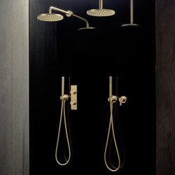 Code Oro Cepillado Set de Ducha | Grifería para duchas | Inbani