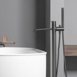 Code Brushed Graphite Freestanding Bathtub Mixer   Bath taps   Inbani
