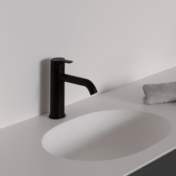 Code Matt Black Basin Mixer   Wash basin taps   Inbani