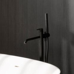 Code Matt Black Freestanding Bathtub Mixer   Bath taps   Inbani