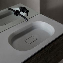 Cube Tapa con lavabo integrado en Cementsolid | Lavabos | Inbani