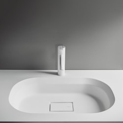 Cube Tapa con lavabo integrado en Solidsurface | Lavabos | Inbani