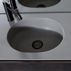 Giro Plan avec vasque intégrée en Cementsolid | Lavabos | Inbani