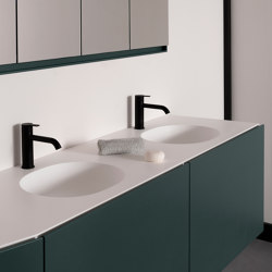 Giro Plan avec vasque intégrée en Solidsurface | Lavabos | Inbani