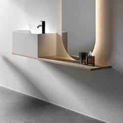 Norm Espejo con Estante a pared | Estanterías de baño | Inbani