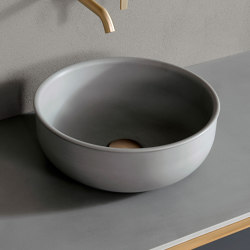 Prime Cementsolid top mounted washbasin Ø35. | Wash basins | Inbani
