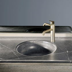 Prime Marble top with integrated washbasin | Wash basins | Inbani