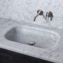 Senio Tapa con lavabo integrado en Mármol | Lavabos | Inbani