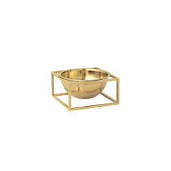 Kubus Bowl Centerpiece small brass   Bowls   by Lassen