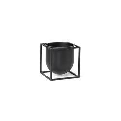 Kubus Flowerpot 14 black | Plant pots | by Lassen