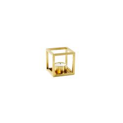 Kubus T brass | Candelabros | by Lassen