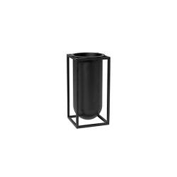 Kubus Vase Flora black | Vasi | by Lassen