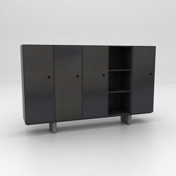 Chamfer Assembled Storage Configuration 4 | Armoires | Isomi