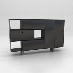 Chamfer Assembled Storage Configuration 5 | Armoires | Isomi