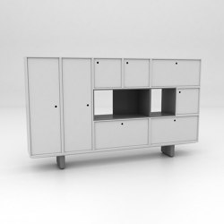 Grid Assembled Storage Configuration 6 | Cabinets | Isomi