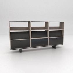 Stack Assembled Storage Configuration 3 | Shelving | Isomi