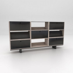 Stack Assembled Storage Configuration 5 | Shelving | Isomi
