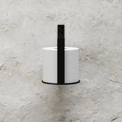 Toilet Paper Holder Extra - Black | Paper roll holders | Nichba Design