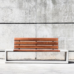 Outline Bench W/Backrest | Benches | Sit