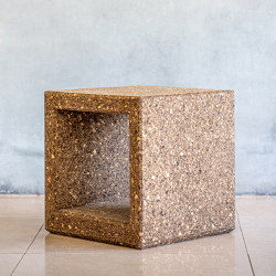Outline Low Table - Dark Cork | Beistelltische | Sit