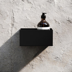 Bath Shelf 20cm - Black | Bath shelves | Nichba Design