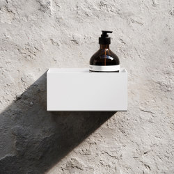 Bath Shelf 20cm - White | Bath shelves | Nichba Design