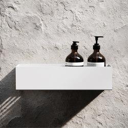 Bath Shelf 40cm - White   Bath shelves   Nichba Design