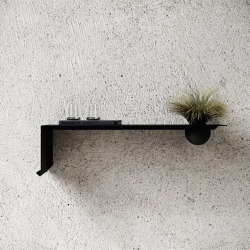 Shelve01 with Bowl - Black | Shelving | Nichba Design