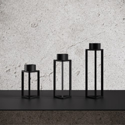 Build My Light Candle Holders Set Black | Candlesticks / Candleholder | Nichba Design