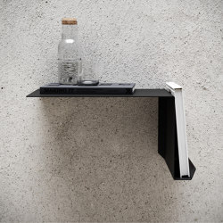 Shelve02 Black Right Bedside Table | Shelving | Nichba Design