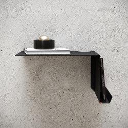 Shelve02 with Felt Black Right Bedside Table | Scaffali | Nichba Design