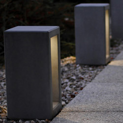 Outline Bollard with Light | Bolardos | Sit