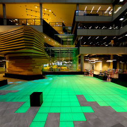 ASB LumiFlex | Microsoft Digital Waterfall Lake | Glas Platten | ASB GlassFloor