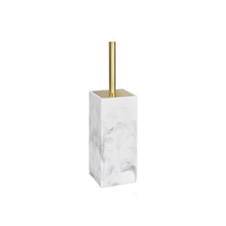 Bathroom Sets | Pol Mar Ef/Brz Toilet Brush H. 8,5X8,5X33 | Toilet brush holders | Andrea House
