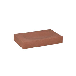 Bathroom Sets | Red Sandstone Soap Dish 12X7,5X2 | Soap holders / dishes | Andrea House