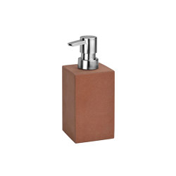 Bathroom Sets | Red Sandstone Soap Disp 7X7X16,5 | Soap dispensers | Andrea House