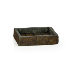 Bathroom Sets | Sq. Ox. Slate Soap Dish 12,5X10X3 | Soap holders / dishes | Andrea House