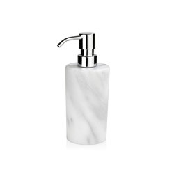 Bathroom Sets | White Marble Soap Dispenser | Soap dispensers | Andrea House