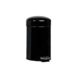 Paper Bins | Black Metal Pedal Bin 3L. | Bath waste bins | Andrea House
