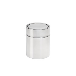 Paper Bins | S/S Bin Ø12X15cm/1,5L | Bath waste bins | Andrea House