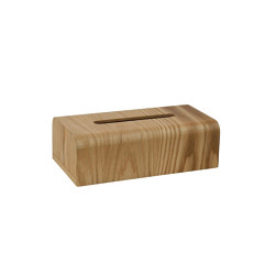 Tissue Boxes | Ash Tree Tissue Holder 26,5X14X8,5 | Paper towel dispensers | Andrea House