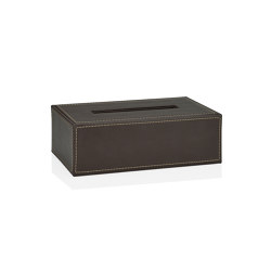 Tissue Boxes | Brown Leather Eff. Tissue Holder | Paper towel dispensers | Andrea House