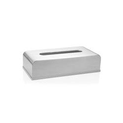 Tissue Boxes | Satin St/St Tissue Box 26X13X6cm | Paper towel dispensers | Andrea House