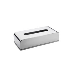 Tissue Boxes | Shiny St/St Tissue Box 26X13X6cm H | Paper towel dispensers | Andrea House