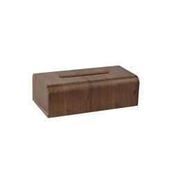 Tissue Boxes | Walnut Tissue Holder 26,5X14X8,5cm | Paper towel dispensers | Andrea House
