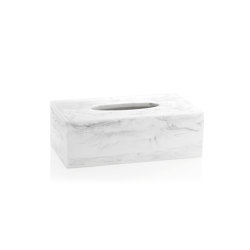 Tissue Boxes | Wh. Marble Eff. Tissue H. 24X13X8 | Paper towel dispensers | Andrea House